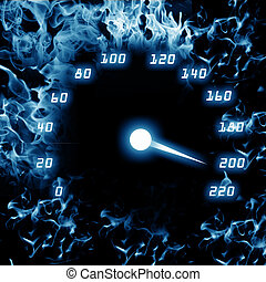 picture of speedometer - color picture of speedometer on a...