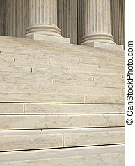 Steps and Columns at the Entrance of the United States Supreme Court in Washington DC