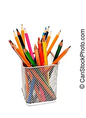 Pencils - An image of a bunch of pencils in a small basket