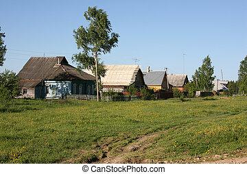 Rural scene - Russian village, Moscow region.