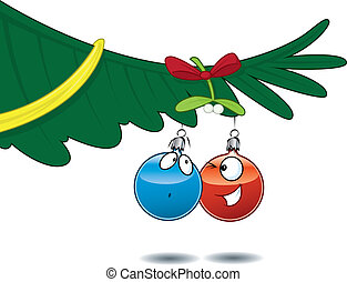 Ball-balls under the mistletoe