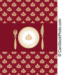 background of menu - original background with a table set...