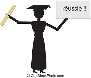 french woman graduate