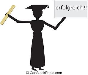 german girl graduate