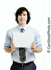 Man with paper