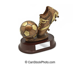 Top Goal Scorer Trophy isolated on white