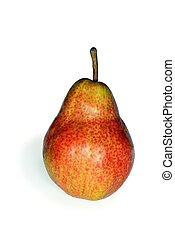 Red pear - An image of a red ripe pear on white background