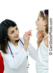 Doctor assessing patient - An image of doctor looking at a...