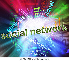 Concept of Social Network - Illustration of social media...