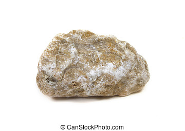 Limestone Rock - Limestone rock isolated on white background