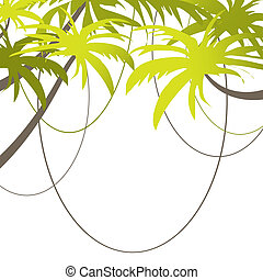 Tropical Beach Banner vector illustration - Tropical Beach...