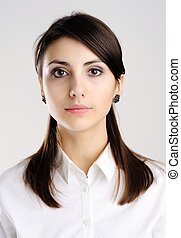 Nice woman - A portrait of young beautiful woman