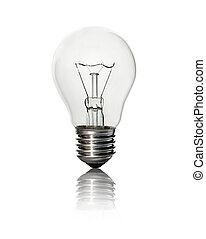 lightbulb is  isolated on a white background