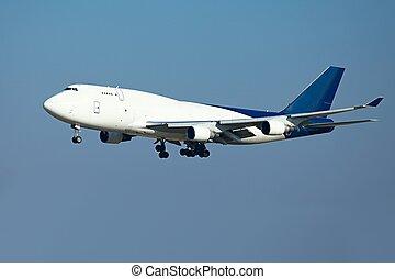 Plane - Huge cargo airplane landing
