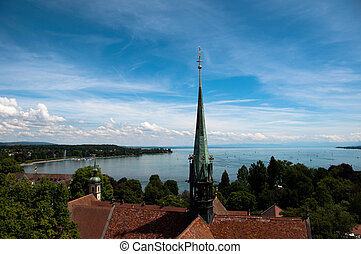 Konstanz - View at Lake Constance - View from the dome of...