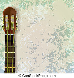 abstract music grunge background with guitar