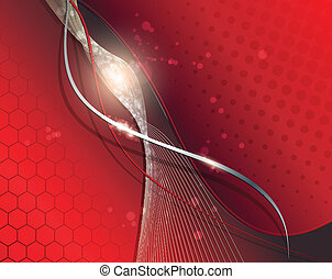 Abstract business background elegant red, vector.