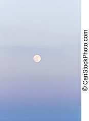 Full moon above Azov sea in crayon tones