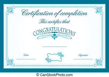 Certificate Template - illustration of certificate template...