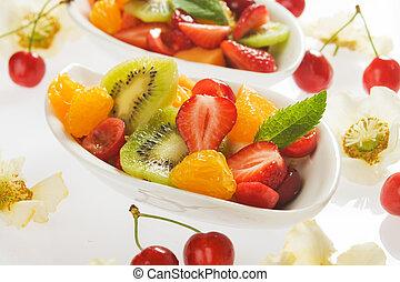 新たに, フルーツ, サラダ