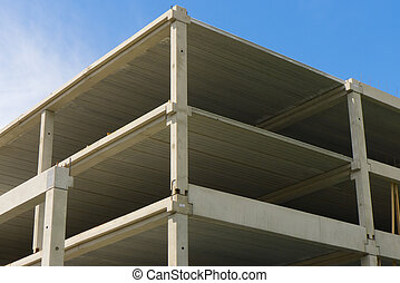 Parking House Under Construction - Construction of Modern...