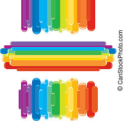 Rainbow design elements for your text-vector