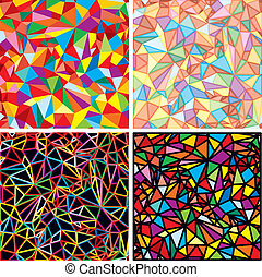 Mosaic Abstraction - Set of Vector Chaotic Mosaic