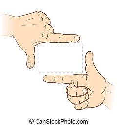 Finger Frame - Focusing hands-Finger frame-vector...