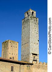 San Gimignano tower, Tuscany, Italy