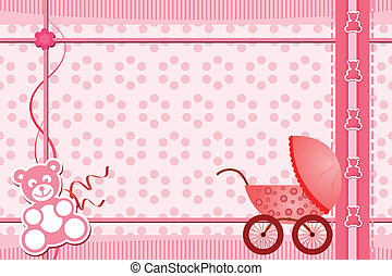 Baby shower greeting card - A vector illustration of a baby...