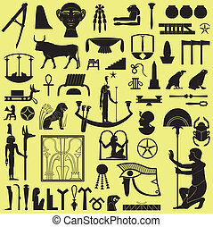 Egyptian Symbols and Signs Set 3 - Ancient Egyptian symbols...