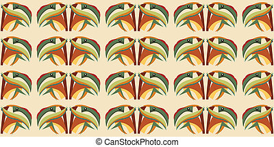 Seamless Parrot Abstract