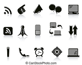 Isolated communication Icons on white background