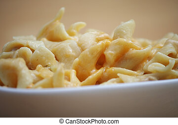 Cheesy Noodle Casserole - Close Up of Cheesy Noodle...