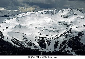 Whistler mountain - Winter view of Whistler Mountain