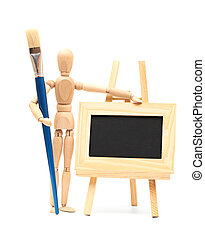 Wooden concept of mannequin - Wooden artist mannequin with...