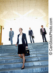Female leader - Portrait of confident business leader...