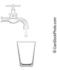 water conservation - illustration of water conservation
