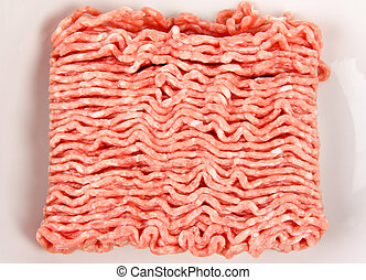Fresh minced meat. Close up.