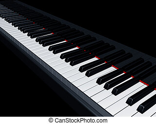 Piano keys - Illustration of a piano reflecting the keys