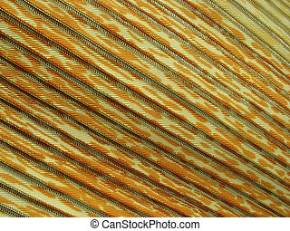 Yellow multicolored striped relief fabric background -...