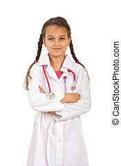Future doctor girl with arms folded