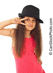 Beauty model girl with hat
