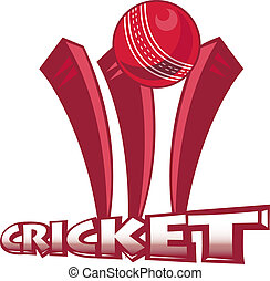 cricket sports ball wicket - illustration of a cricket...