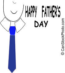 happy fathers day - conceptual illustration for fathers day...