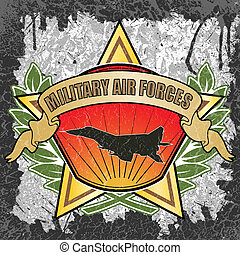 Military air forces symbol