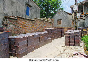 Alley in the village of Phu Lang - Alley in the village of...