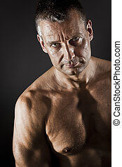middle age man - An image of a strong middle age man