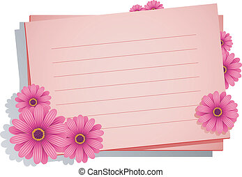 Pink flowers with a card for your t