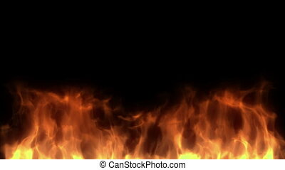 Fire - Burning fire. High quality fire motion background.